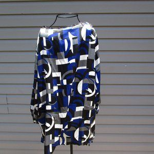 Sag Harbor Geometric Print Blouse Size 1X